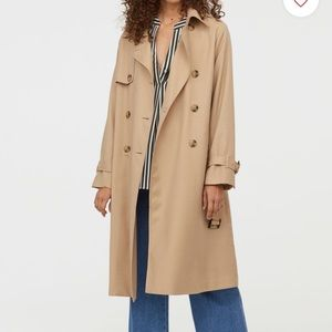NWT H&M tan trench coat size 4